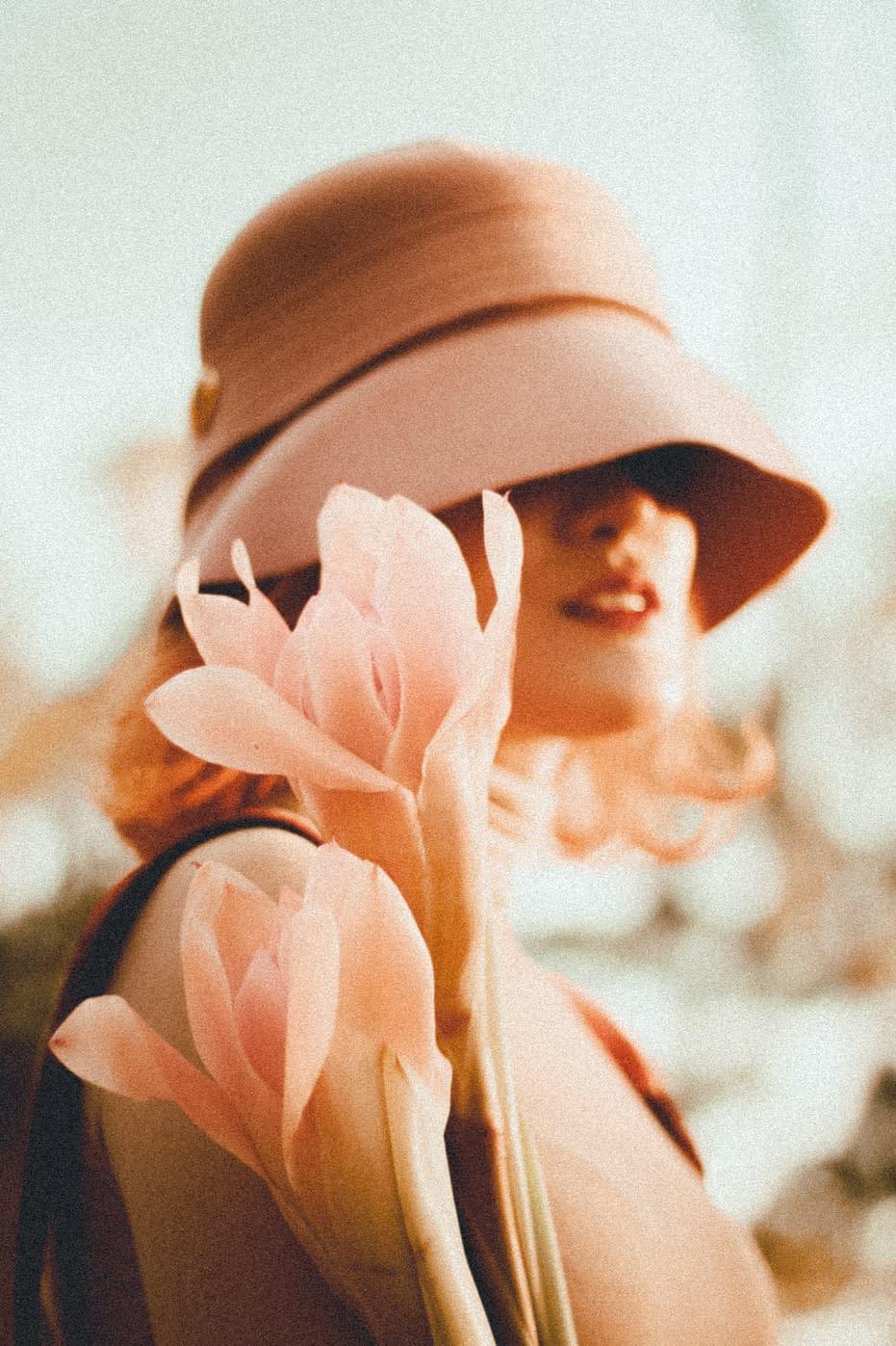 Wearing a hat-Beautiful Woman