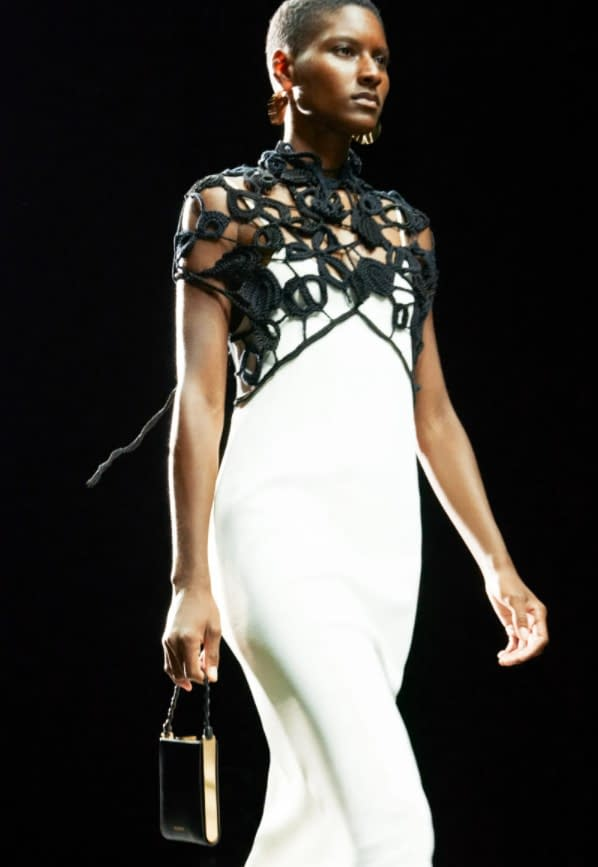 Jil Sander, dress with knitted net
