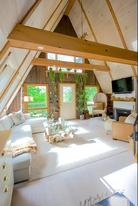 livingroom in a tiny house