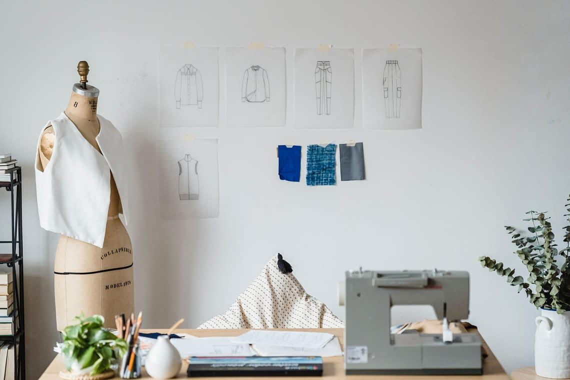 a sewing artelier