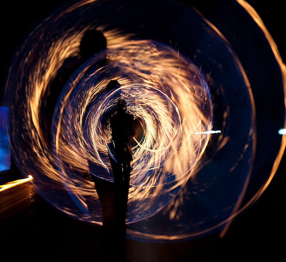 energy as light around a human