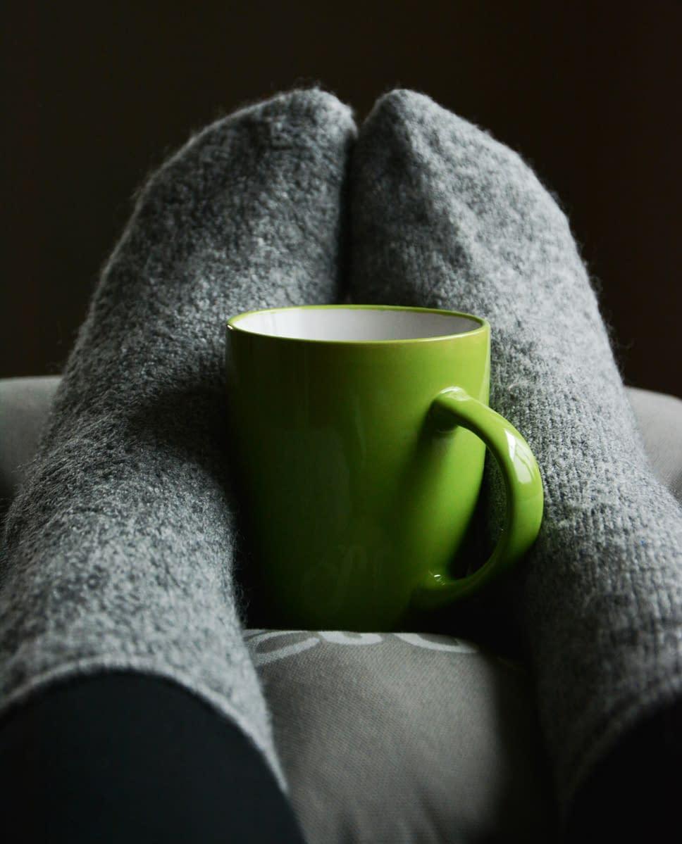 woolen grey socks