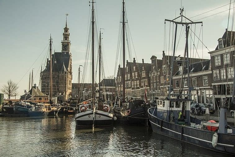 a city next to water in the Netherlands