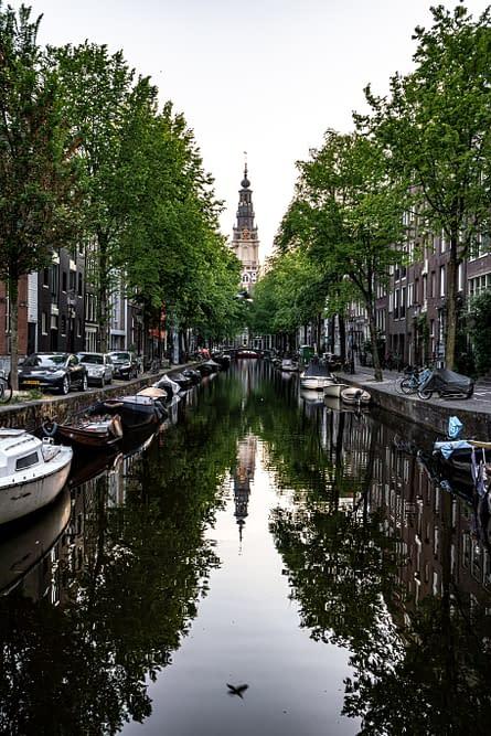 "a ""Gracht"", waterway in Amsterdam"