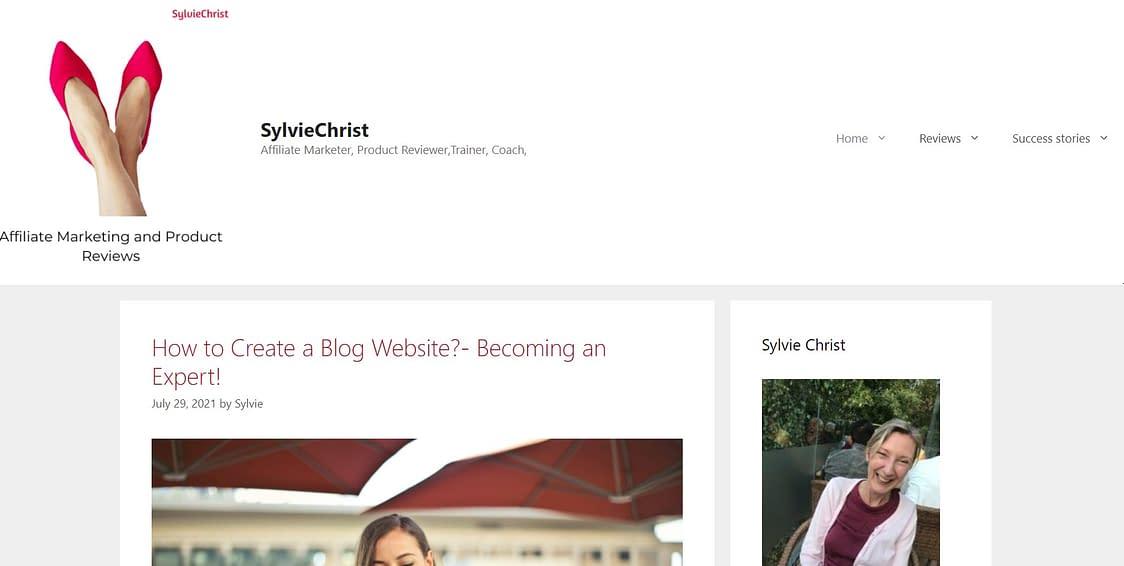 www.sylviechrist.com, screenshot